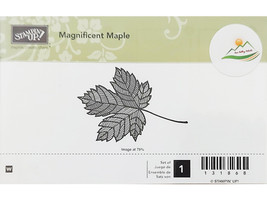 Stampin' Up! Magnificent Maple Wood Mounted Rubber Stamp #131868