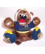 GO BLUE Vintage Mascot Plush University of Michigan Wolverine Suction Ca... - $28.66