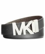 Michael Kors Reversible Pebble To Logo Belt (Blackbrown, L) - $59.90
