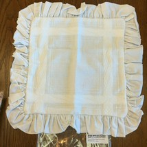 "Zweigart Teresa Pillow Sham 14 Count Cross Stitch & Leaflet 17"" with Ruffle - $5.23+"