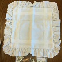 """Zweigart Teresa Pillow Sham 14 Count Cross Stitch 17"""" with Ruffle 100% Cotton - $5.23+"""