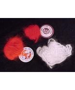 Angora Yarn Orange Red Cherry Red White 100% Ra... - $7.95