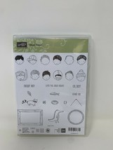 Stampin Up! Dear Heart Stamp Set unmounted photopolymer Faces Boys New - $15.83