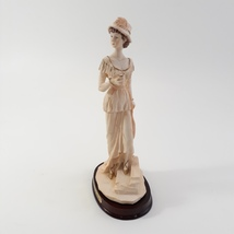 Marlo Collection by Artmark Lady Figurine Cup in hand Standing on Step image 3