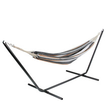 """Northlight 59"""" x 78"""" Brown, Gray and White Striped Poly Cotton Hammock - $38.11"""
