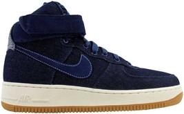 Nike Air Force 1 Hi SE Binary Blue/Muslin-Sail Denim 860544-400 Women's SZ 11.5 - $63.00