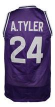 A.Tyler #24 HuskiesThe 6th Man Movie Basketball Jersey Sewn Purple Any Size image 2