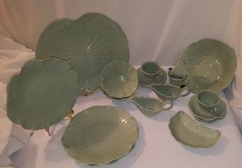 20 Piece Metlox Lotus Poppytrail Dishes Jade Color Pottery - $88.11