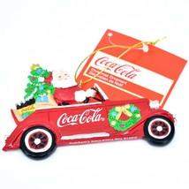 "Kurt S. Adler Santa Claus Driving Coca-Cola Coke Truck 2.75"" Christmas Ornament image 1"