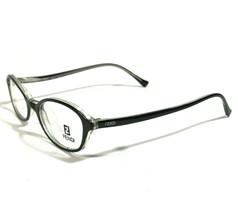Fendi Black Clear Oval Cats Eye Thin Eyeglass Frames Curved Onyx F564 47 18 140 - $79.48