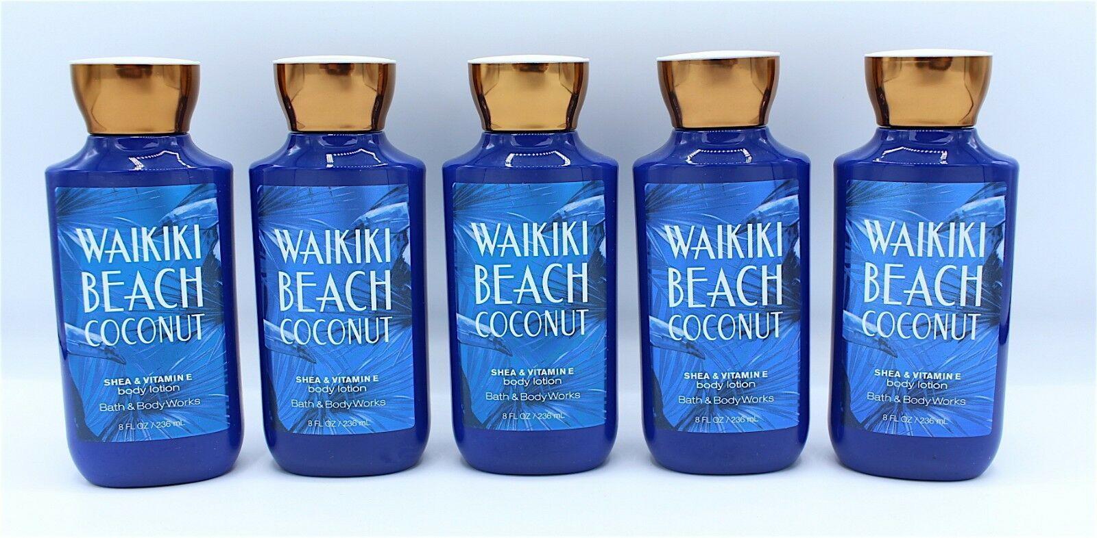 Bath & Body Works Waikiki Beach Coconut Body Lotion Lot of 5 Bottles