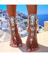 Luxury Jewelry Boho Crystal Anklet Bracelet Beach Vacation Ankle Sexy Le... - $6.89+