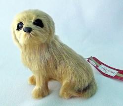 Golden Yellow Maltese Dog Blonde Christmas Ornament Puppy Hair NEW Reali... - $9.89
