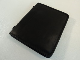 Standard Personal Business Organizer Pens Notes Black Faux Leather - $17.40