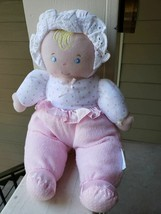 Eden Toys Terry Cloth Pink Doll Rattle STUFFED ANIMAL PLUSH TOY - $22.00