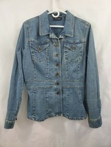 Axcess by Liz Claiborne Stretch Denim Button Jacket Size L - $18.30