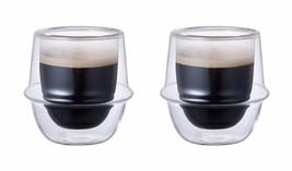 Set of 2 Double-Walled Kinto KRONOS 80 ml Espresso Cups - $31.67