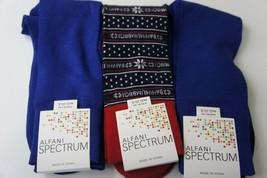Alfani Spectrum Mens Socks Sz 7 - 12 Cobalt Navy Blue Multi Color 3 Pairs Socks - $14.27