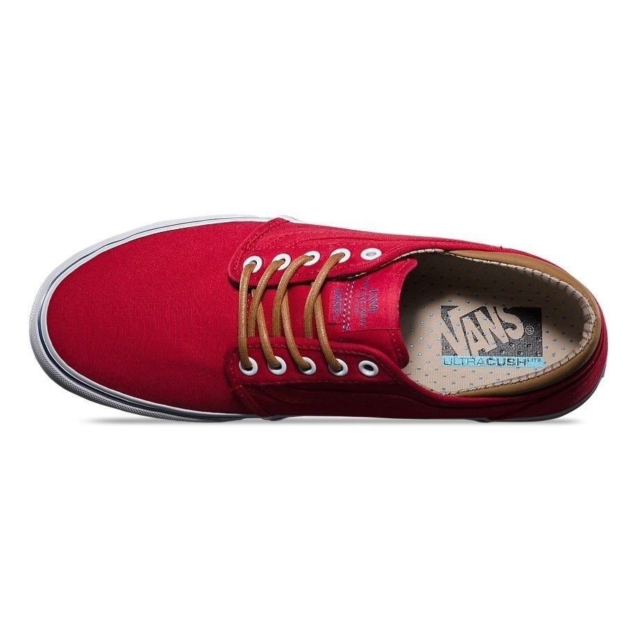 Vans Trig (Trim) Red/White Men's Authentic Classic Skate Shoes SIZE 11 image 4