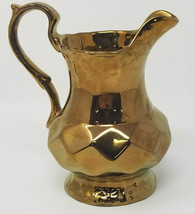 Vintage Wade England Copper Clad Ceramic Pitcher Creamer - $15.15