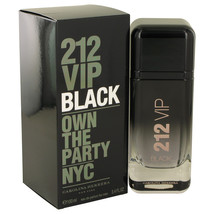 212 VIP Black by Carolina Herrera Eau De Parfum Spray 3.4 oz for Men - $86.95