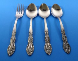 Imperial IMI4- Stainless 3 Soup Spoons & 1 Dinner Fork Floral Scroll - $9.99