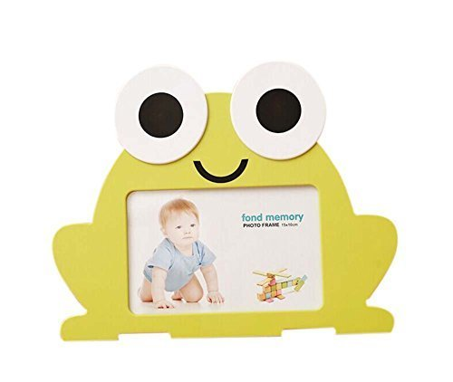 6 inch Creative Cartoon Cute Baby Photo Frame Yellow Frog Models