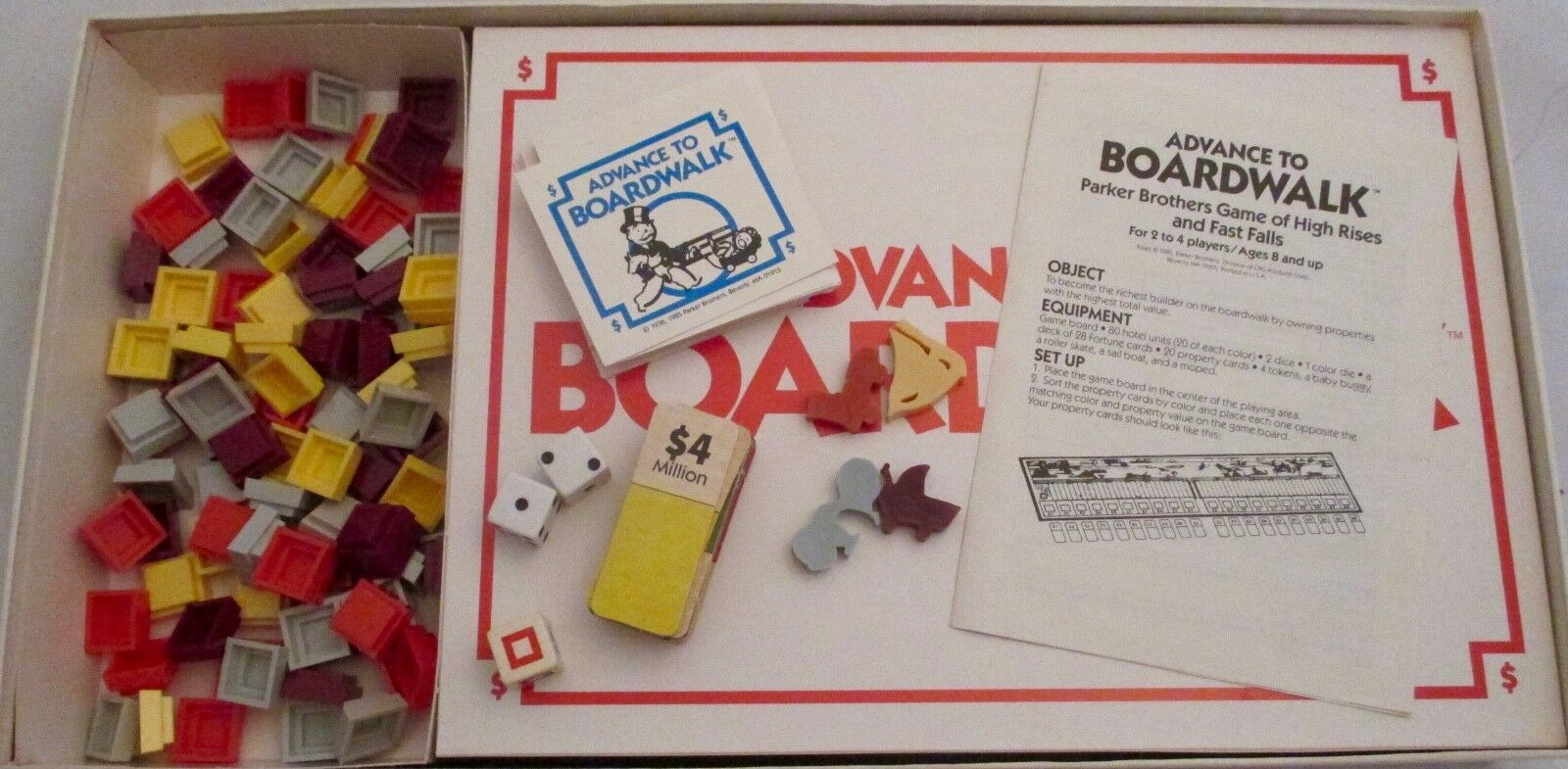 Parker Brothers Advance To Boardwalk 1985 Vintage Board Game Complete Monopoly  image 4