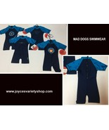 Infant One Piece Swimsuit Mad Dogs Lycra 50 UPF 6-12 Months Variety Feat... - $9.99