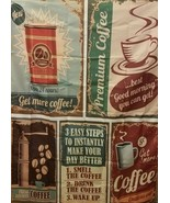 Ambesonne 1950s Decor Collection, Coffee Posters and Signs Hanging Tapestry - $18.01