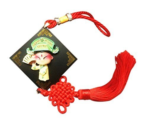 2 Pieces Of Creative Car Ornaments Chinese Knot Pendant, Scholar