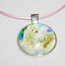 Beautiful Unicorn Charm, Pink Unicorn Necklace, Free Shipping Jewelry - $6.99