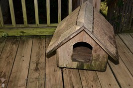 Vintage solid wood Dog House shingles sturdy small dog small cabin dachs... - $148.49