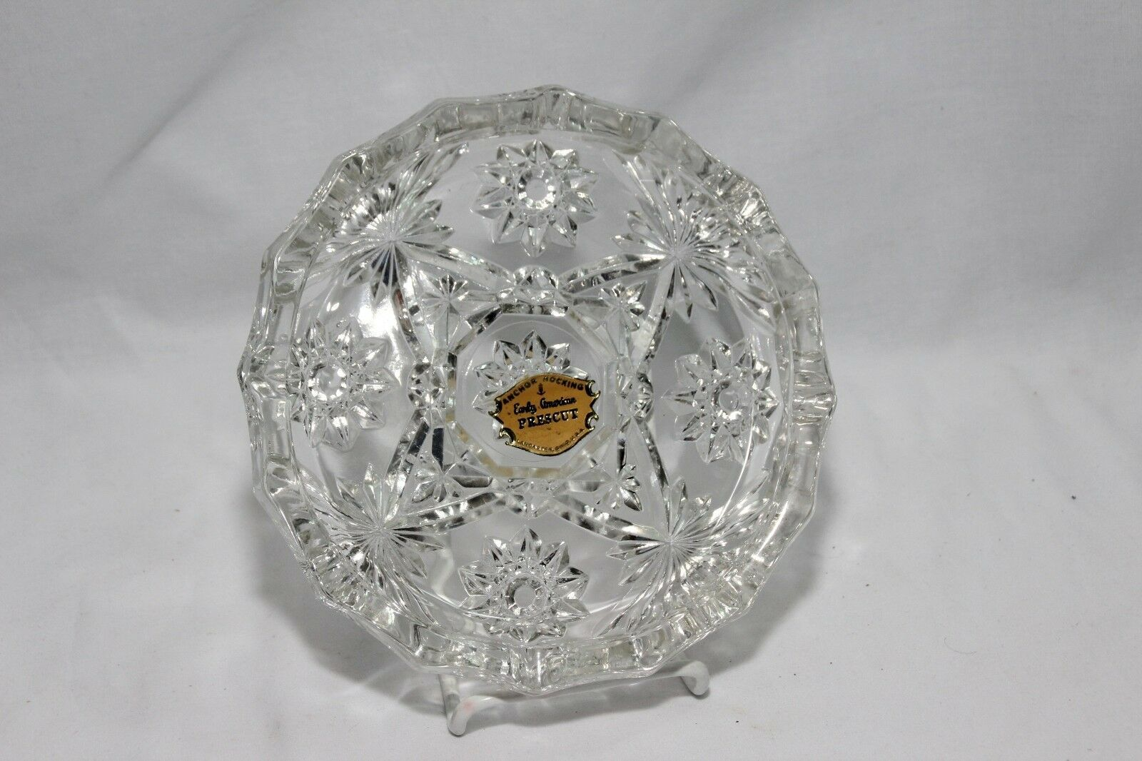 Ashtray Anchor Hocking Early American Prescut 8""