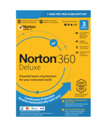 Norton 360 Deluxe 2021 - 3 Devices 1 Year (Genuine Activation keys) - $34.99