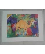 "Alfred Gockel ""Camel"" Abstract Art Print 24.5 x 18 - $30.00"