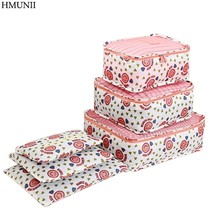 HMUNII® 6PCS/Set High Quality Polyester Travel Mesh Bag Luggage Organizer - $316,51 MXN