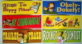 The Simpsons Stickers - Homer, Itchy - Scratchy, Ned, Bee - Lot of 6 - F... - $11.24