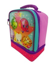 """Shopkins 9"""" SPK Dual Compartment Lunch Bag Tote Pail with Key Chain New with Tag image 2"""