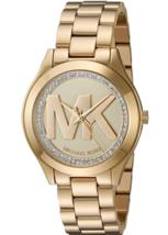 Michael Kors Women's Mini Slim Runway Gold Watch MK3477 - $199.95