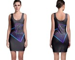 Black panther neon mode bodycon dress thumb155 crop