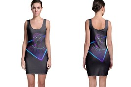 Black panther neon mode bodycon dress thumb200