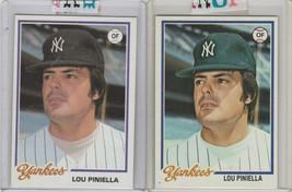 1978 Topps #159 Lou Piniella 1978 Topps Burger King #18 Yankees - $2.15