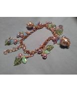 Czech Glass 8 in Copper Tn Wire Wrap Chain bracelet with 1 in extender - $34.99