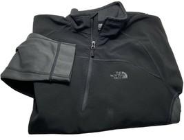 The North Face Half Zip Soft Shell Jacket Mens Large Black - $33.31