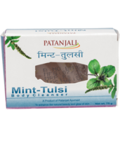 PATANJALI MINT TULSI BODY CLEANSER / BODY SOAP - 75gm - $9.99