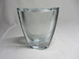 Crystal Vase Etched Fish Goldfish Vtg signed numbered Strombergshyttan S... - $117.80