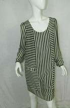 Forever 21 Dress Blue and White Stripped Silk Dress Size Large - $18.55