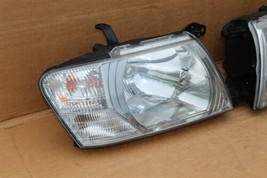 03-06 Mitsubishi Montero Limited Headlight Head Light Lamps Set L&R - POLISHED image 2