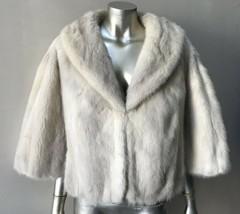 Mink White Tourmaline Fur Cape Wedding Bridal Formal Wrap Stole Jacket C... - $372.72
